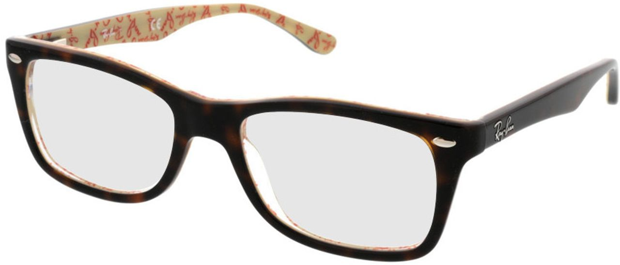 Picture of glasses model Ray-Ban RX5228 5057 50-17 in angle 330