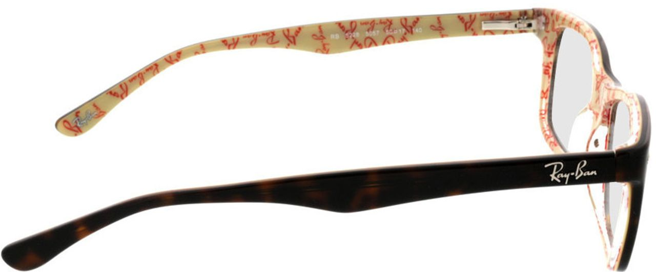 Picture of glasses model Ray-Ban RX5228 5057 50-17 in angle 90