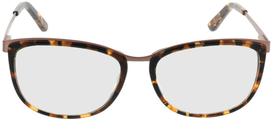 Picture of glasses model Comma70006 61 schwarz-braun-marmoriert 52-16 in angle 0