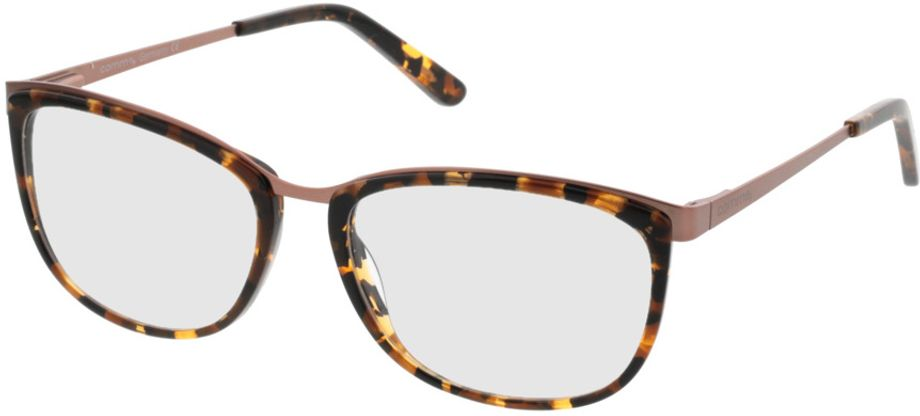 Picture of glasses model Comma70006 61 schwarz-braun-marmoriert 52-16 in angle 330