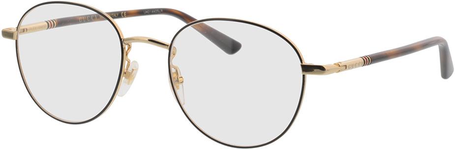 Picture of glasses model Gucci GG0392O-002 51-19 in angle 330