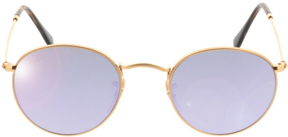 Picture of glasses model Ray-Ban Round Metal RB3447N 001/8O 47-21 in angle 0