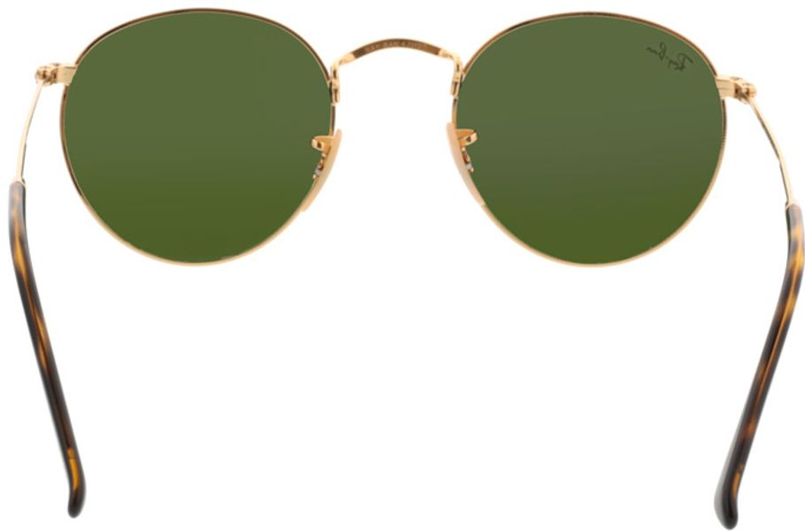 Picture of glasses model Ray-Ban Round Metal RB3447N 001/8O 47-21 in angle 180