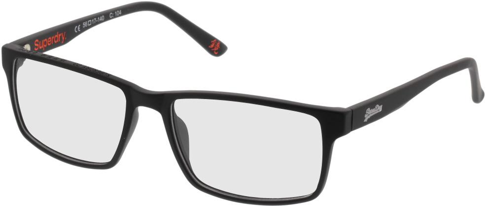 Picture of glasses model Superdry SDO Bendo 104 schwarz 56-17 in angle 330