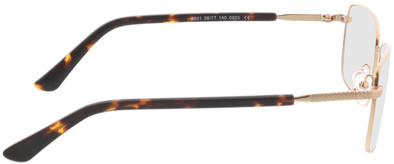 Picture of glasses model Molpa-matt gold in angle 90
