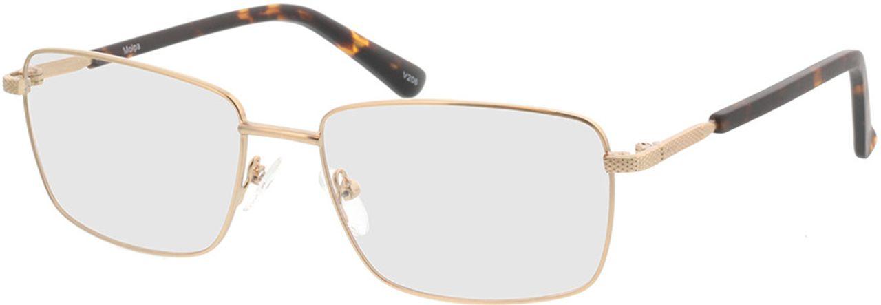 Picture of glasses model Molpa-matt gold in angle 330