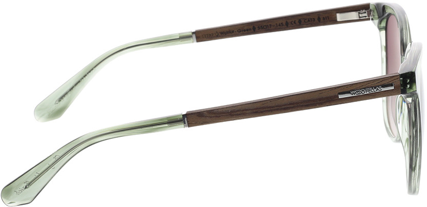 Picture of glasses model Wood Fellas Sunglasses Moyland walnut/smoked green 55-17 in angle 90