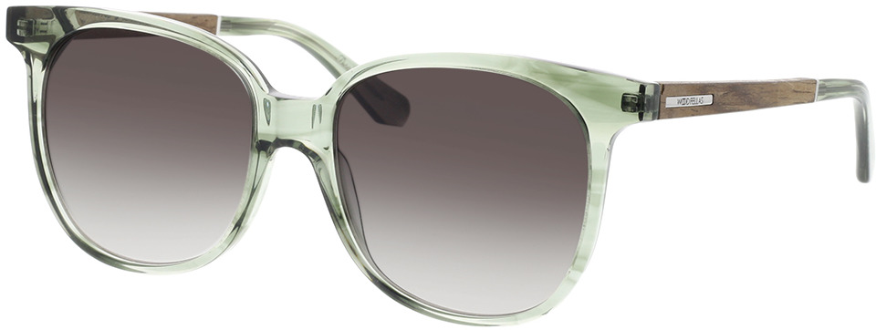 Picture of glasses model Wood Fellas Sunglasses Moyland walnut/smoked green 55-17 in angle 330