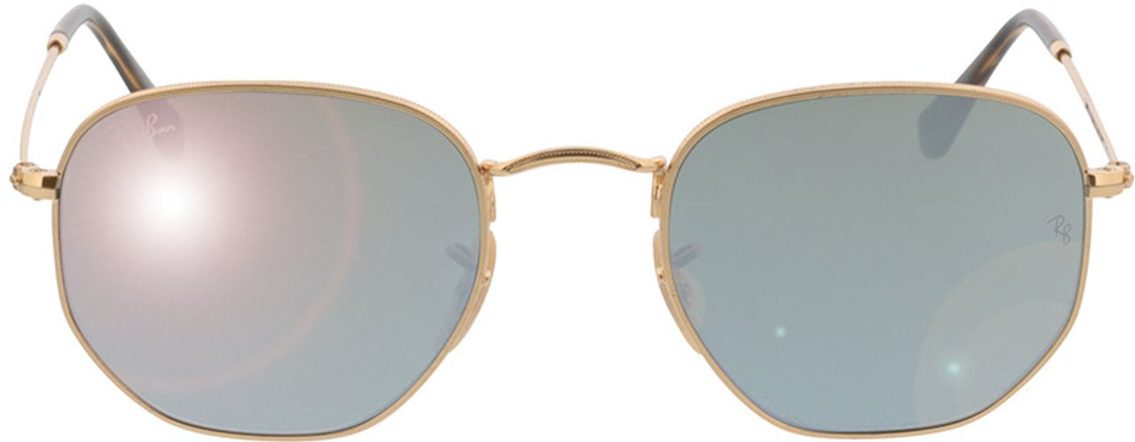 Picture of glasses model Ray-Ban Hexagonal Flat Lenses RB3548N 001/30 51-21 in angle 0