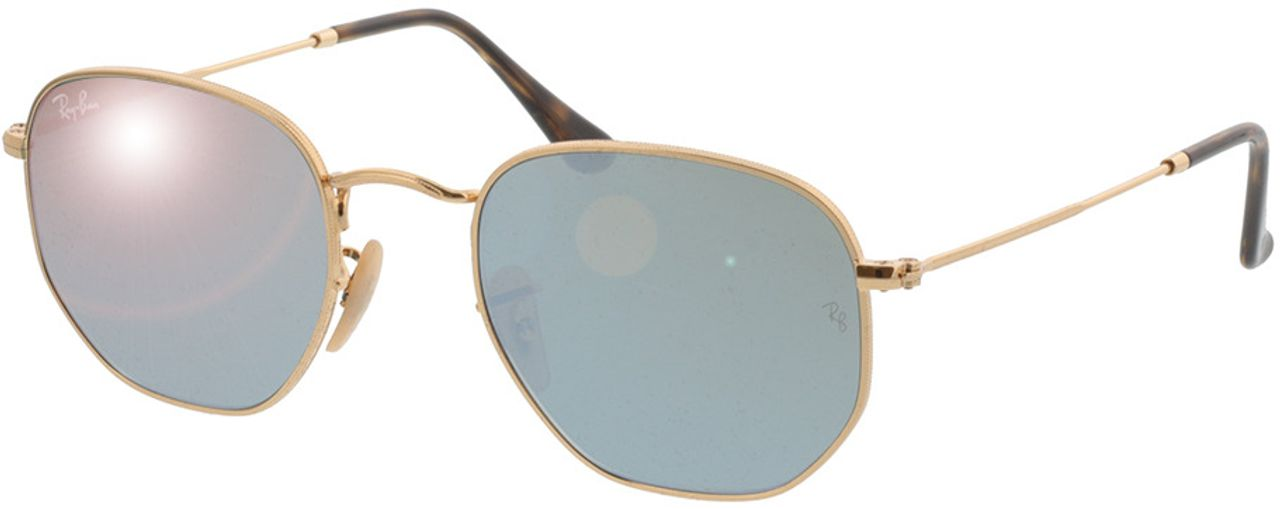 Picture of glasses model Ray-Ban Hexagonal Flat Lenses RB3548N 001/30 51-21 in angle 330