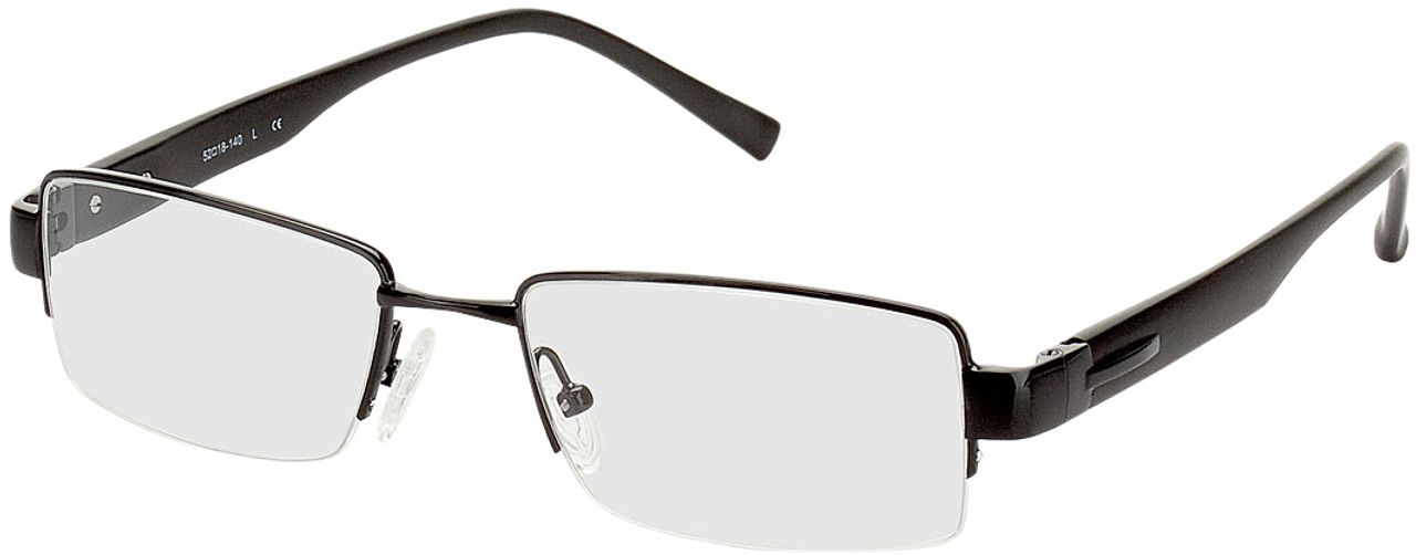 Picture of glasses model Villach black in angle 330