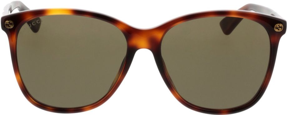 Picture of glasses model Gucci GG0024S-002 58-16 in angle 0