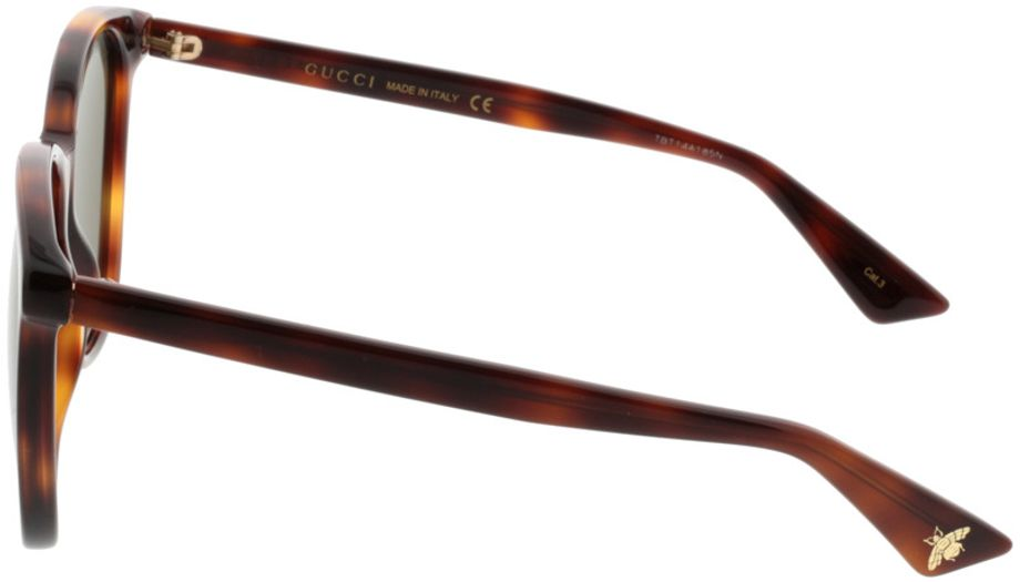 Picture of glasses model Gucci GG0024S-002 58-16 in angle 270