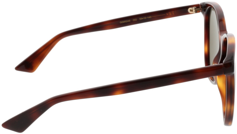 Picture of glasses model Gucci GG0024S-002 58-16 in angle 90