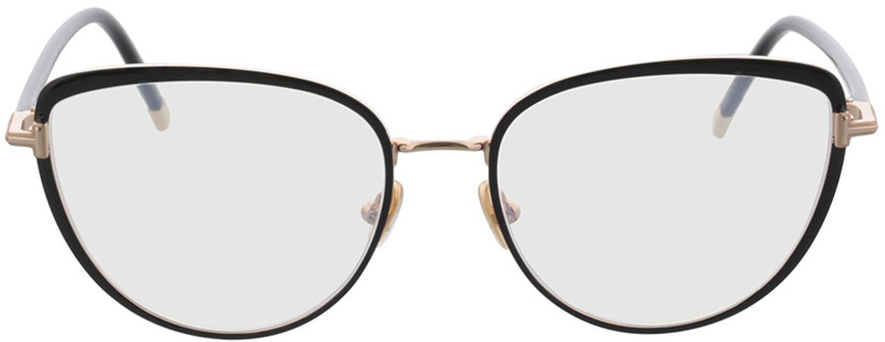 Picture of glasses model Tom Ford FT5741-B 001 55-17 in angle 0