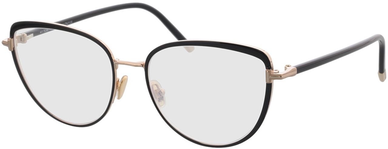 Picture of glasses model Tom Ford FT5741-B 001 55-17 in angle 330