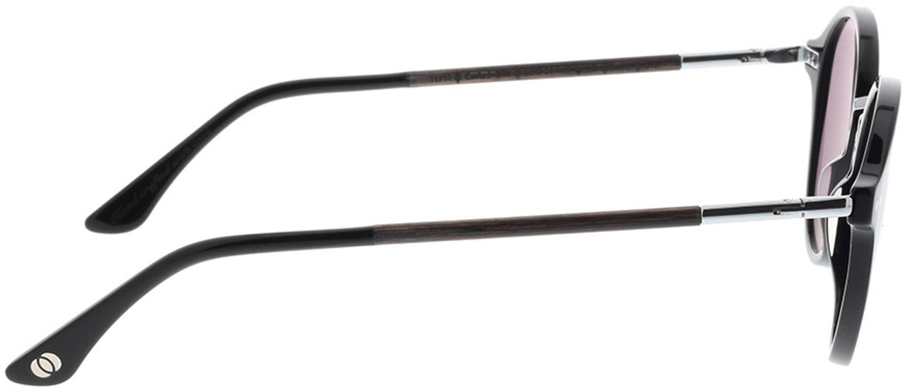 Picture of glasses model Wood Fellas Sunglasses Grünwald curled/black 50-21 in angle 90