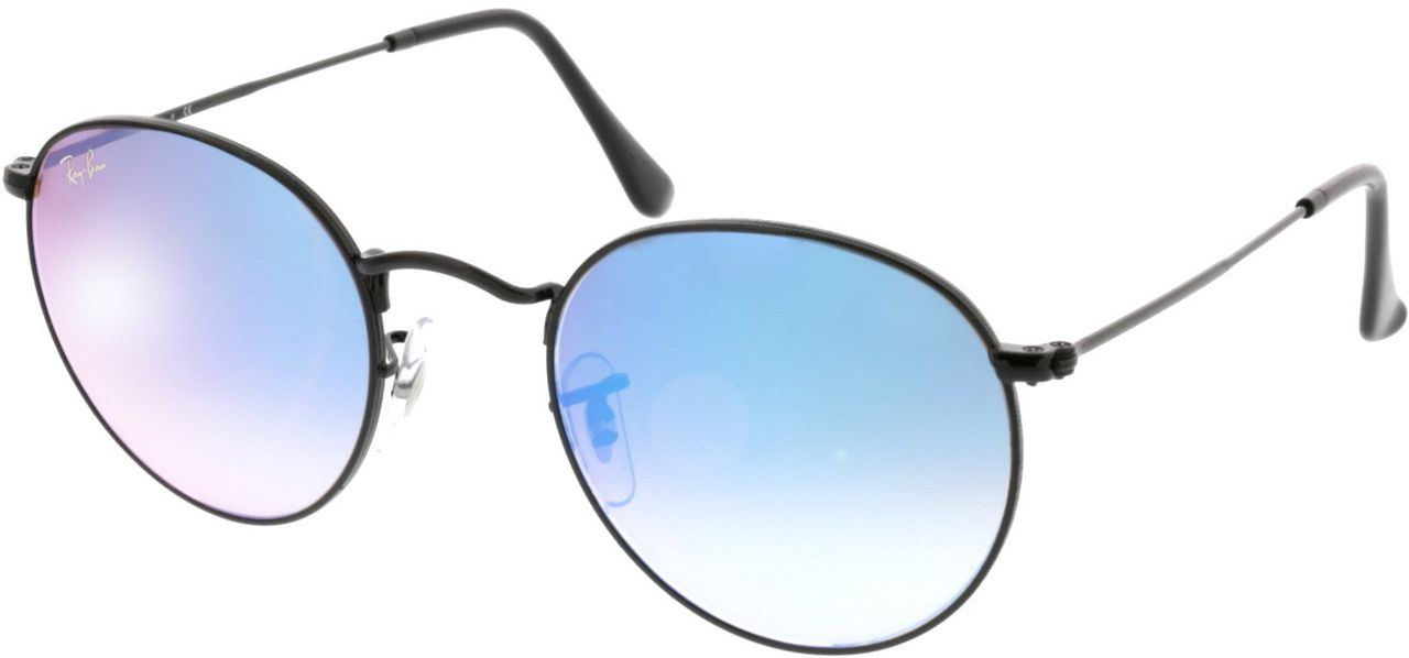 Picture of glasses model Ray-Ban Round Metal RB3447 002/4O 50-21 in angle 330