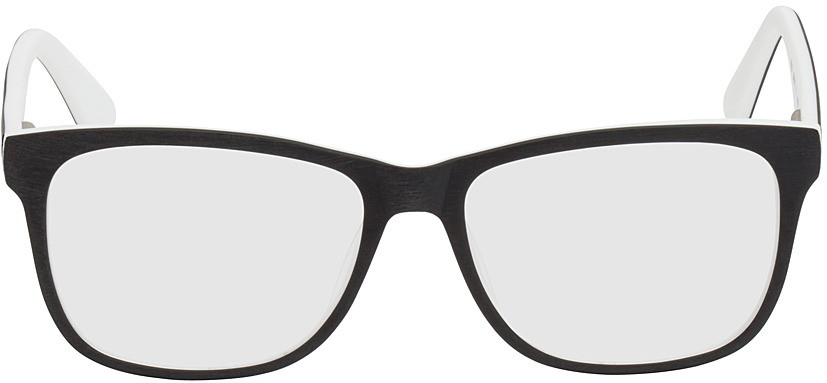 Picture of glasses model Saint-Denis-schwarz/weiß in angle 0
