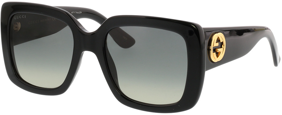 Picture of glasses model Gucci GG0141S 001 53-20 in angle 330