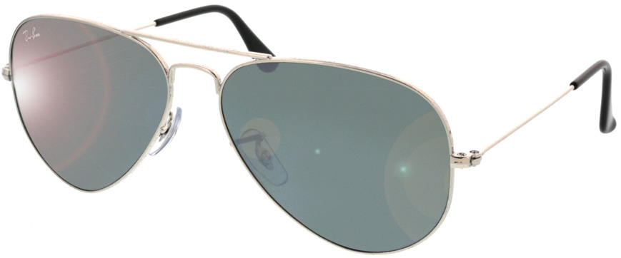 Picture of glasses model Ray-Ban Aviator RB3025 W3277 58-14 in angle 330