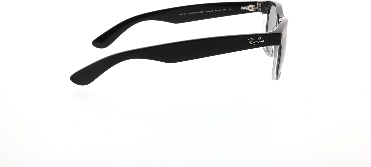 Picture of glasses model Ray-Ban New Wayfarer RB2132 6398Y5 55-18 in angle 90