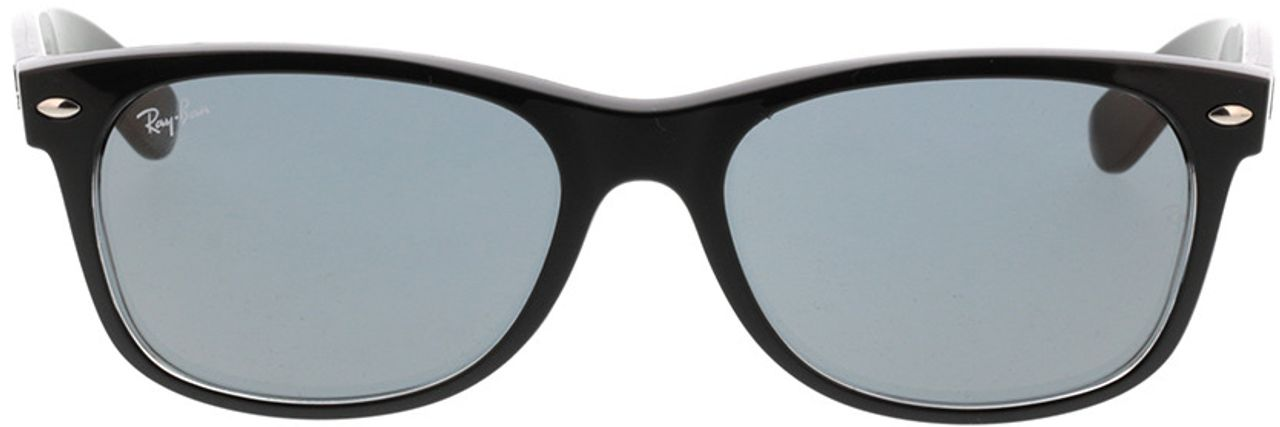 Picture of glasses model Ray-Ban New Wayfarer RB2132 6398Y5 55-18 in angle 0