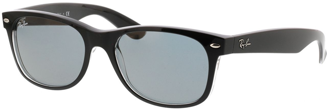 Picture of glasses model Ray-Ban New Wayfarer RB2132 6398Y5 55-18 in angle 330