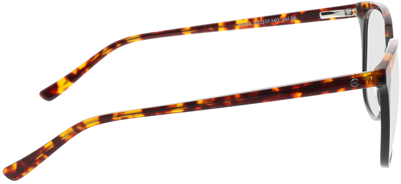 Picture of glasses model Comma, 70103 36 53-17 in angle 90