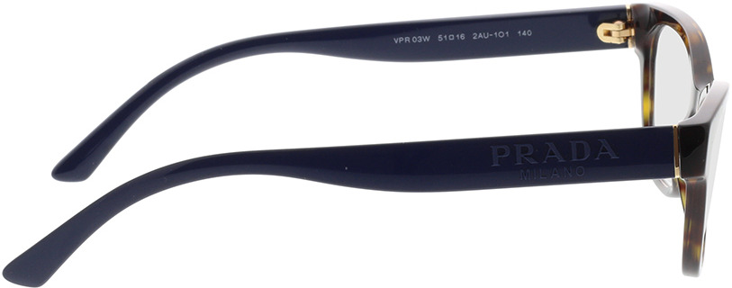 Picture of glasses model Prada PR 03WV 2AU1O1 51-16 in angle 90