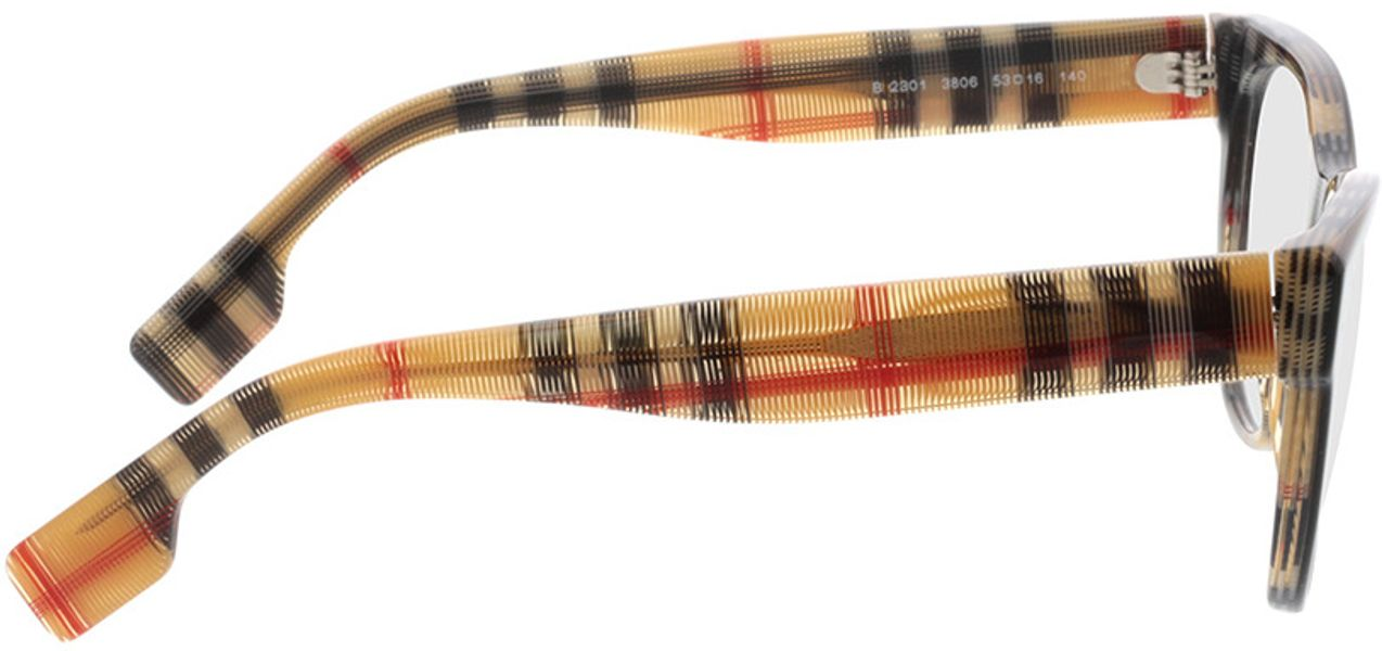 Picture of glasses model Burberry BE2301 3806 53-16 in angle 90