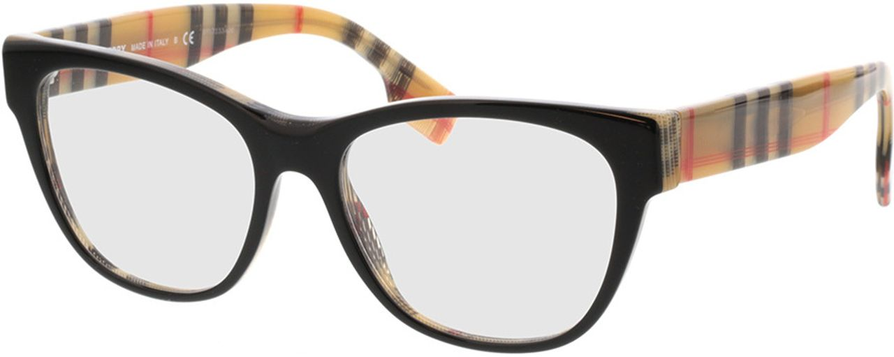 Picture of glasses model Burberry BE2301 3806 53-16 in angle 330