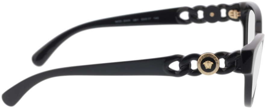 Picture of glasses model Versace VE3305 GB1 53-17 in angle 90