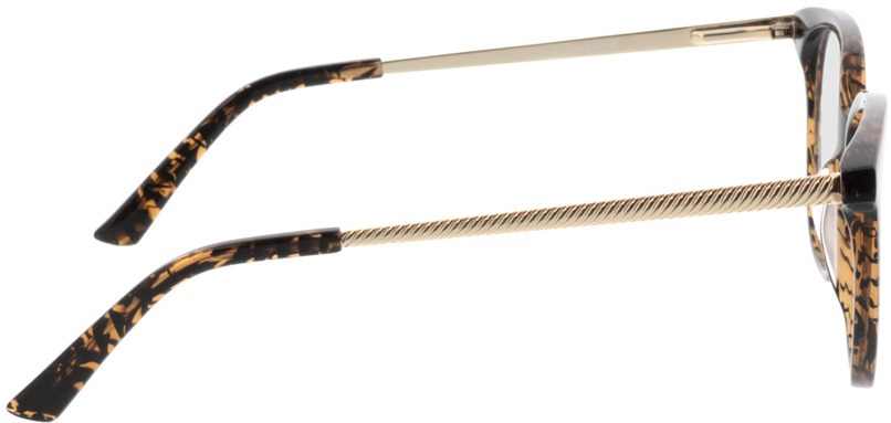 Picture of glasses model Cosma-braun/gold in angle 90