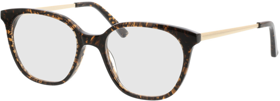 Picture of glasses model Cosma-braun/gold in angle 330