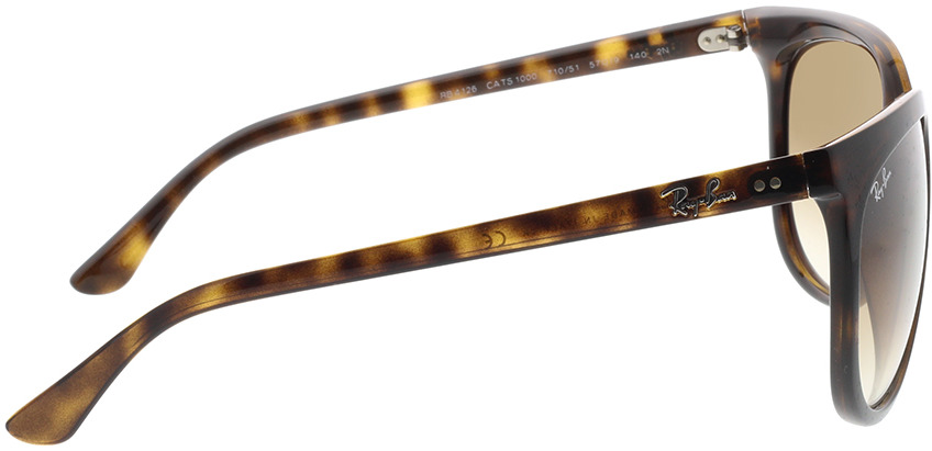 Picture of glasses model Ray-Ban Cats 1000 RB4126 710/51 57-19 in angle 90