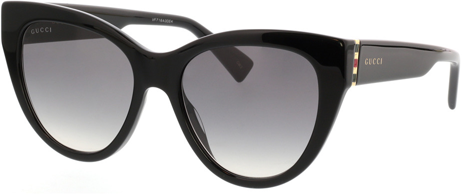 Picture of glasses model Gucci GG0460S-001 53-18 in angle 330