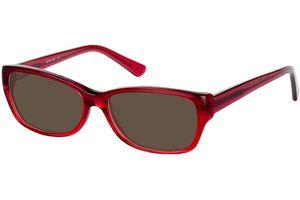Piura-dunkelrot/rot transparent