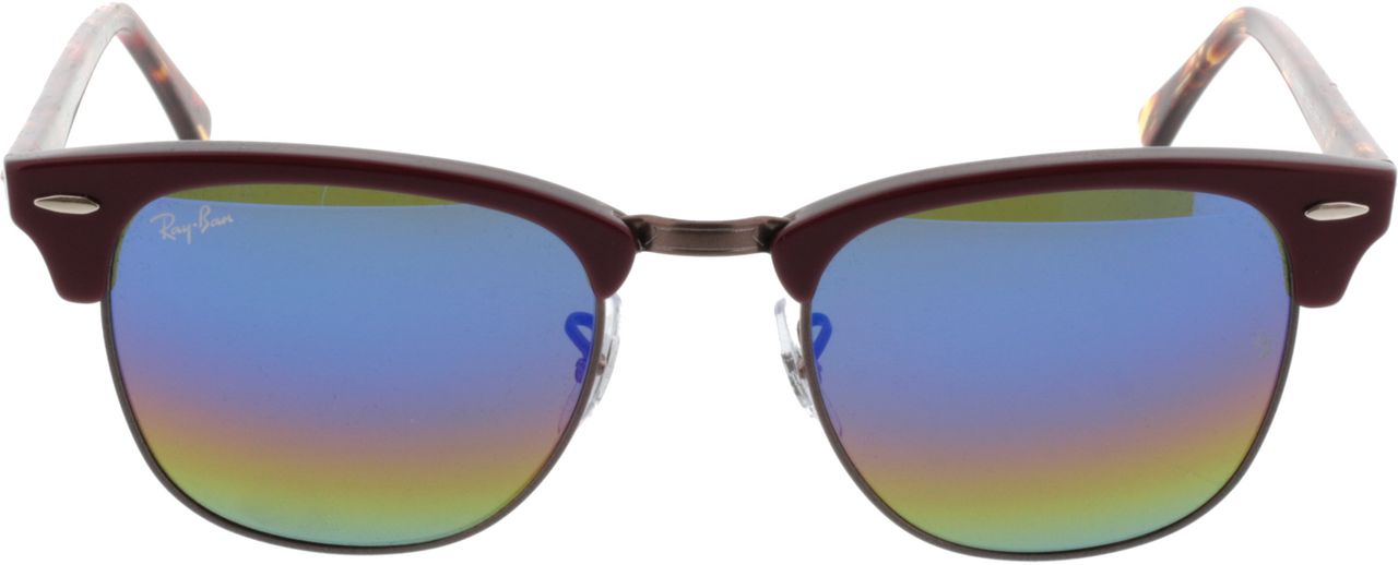 Picture of glasses model Ray-Ban Clubmaster RB3016 1222C2 51-21 in angle 0