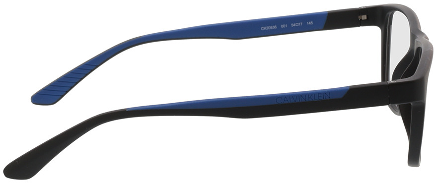 Picture of glasses model Calvin Klein CK20536 001 54-17 in angle 90