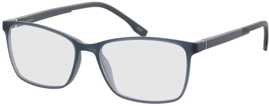 Picture of glasses model Pecos-hellblau-transparent in angle 330