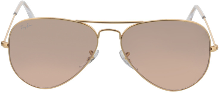 Picture of glasses model Ray-Ban Aviator Large Metal RB 3025 001/3E 58-14 in angle 0