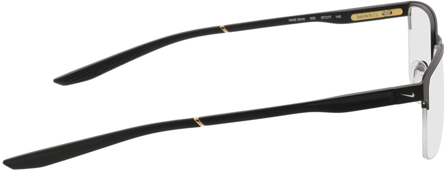 Picture of glasses model Nike NIKE 8045 002 57-17 in angle 90
