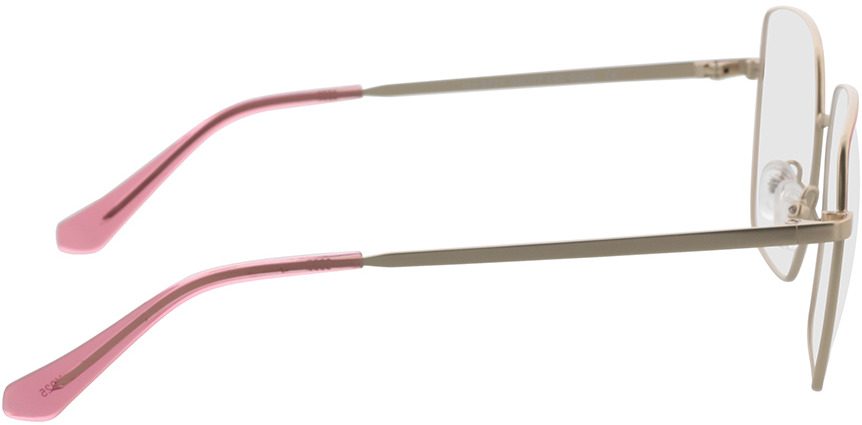 Picture of glasses model Primavera-gold/pink in angle 90