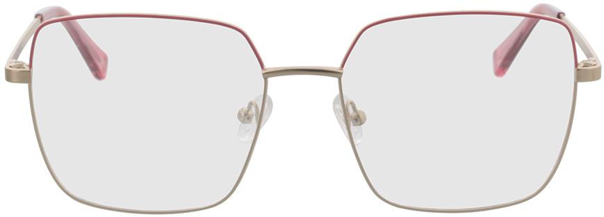 Picture of glasses model Primavera-gold/pink in angle 0