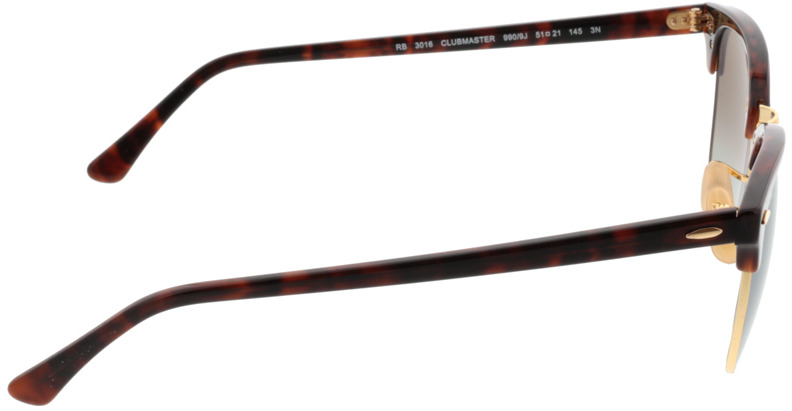 Picture of glasses model Ray-Ban Clubmaster RB3016 990/9J 51-21 in angle 90