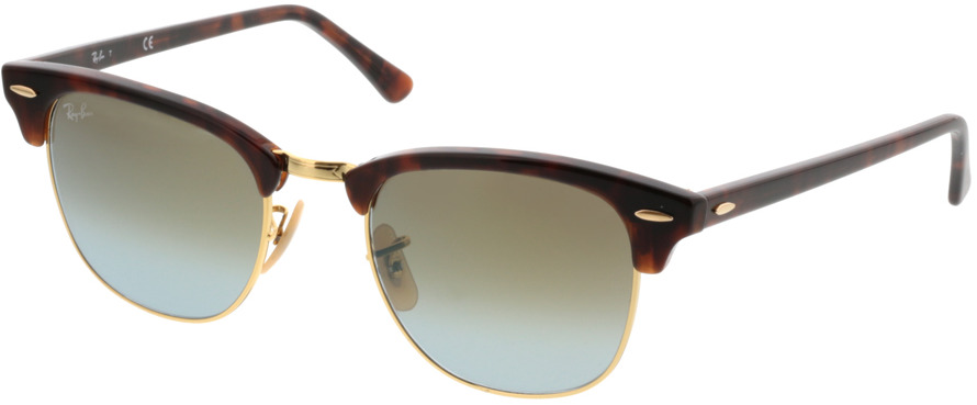 Picture of glasses model Ray-Ban Clubmaster RB3016 990/9J 51 21