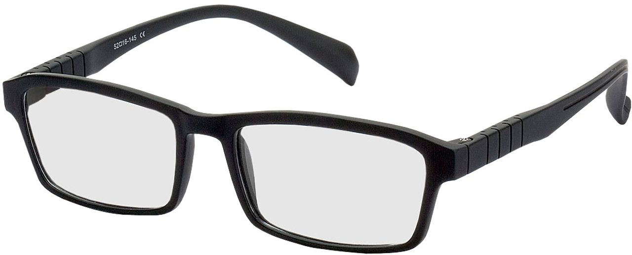 Picture of glasses model Groningen black in angle 330