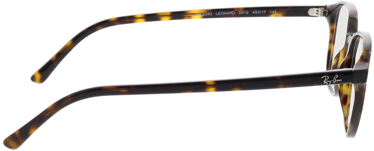 Picture of glasses model Ray-Ban RX5393 2012 49-17 in angle 90