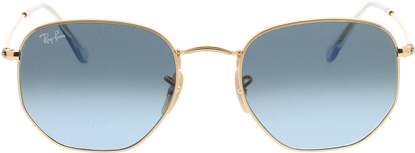 Picture of glasses model Ray-Ban Hexagonal Flat Lenses RB3548N 91233M 54-21 in angle 0